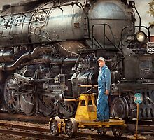 Locomotive - The gandy dancer  by Mike  Savad