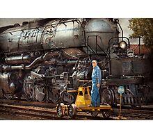Locomotive - The gandy dancer  Photographic Print