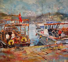 Mediterranean Touring Boats - Art Gallery 33 by Ballet Dance-Artist