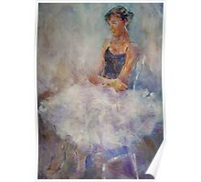 Sitting Pretty - Painting Of Young Ballet Dancer Poster