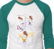 Three Bowties Men's Baseball ¾ T-Shirt