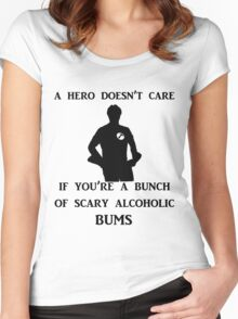 a hero doesn't care Women's Fitted Scoop T-Shirt
