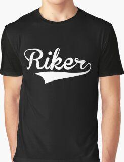 Baseball Style Riker (White) Graphic T-Shirt