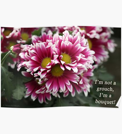 I'm not a grouch, I'm a bouquet. Poster
