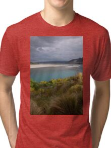 Playful Light on Rakaia River _ New Zealand Tri-blend T-Shirt