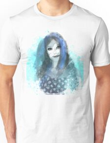 Girl in Blue Unisex T-Shirt