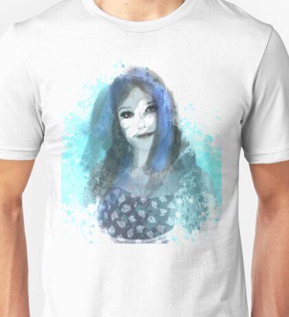 Girl in Blue Unisex T-Shirt