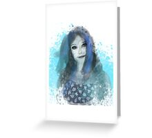 Girl in Blue Greeting Card