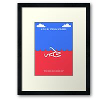 Minimal Jaws - A Typographic Poster Framed Print