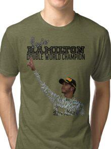 Lewis Hamilton Double World Champion Tri-blend T-Shirt