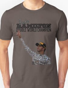 Lewis Hamilton Double World Champion Unisex T-Shirt