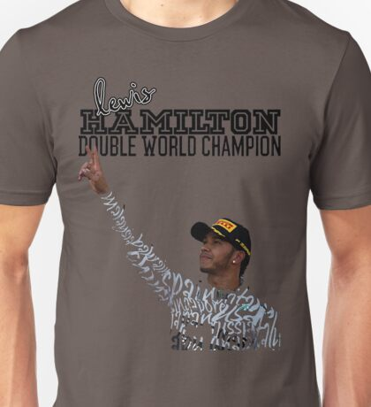 Lewis Hamilton Double World Champion Unisex T-Shirt