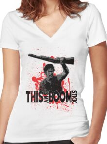 Army of Darkness, Ash, This is my Boomstick Women's Fitted V-Neck T-Shirt