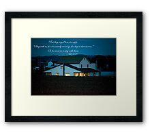 Firefly Evening Framed Print