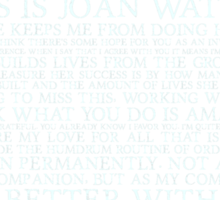 joan watson-alternate Sticker
