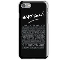 joan watson-alternate iPhone Case/Skin