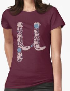 The Letter Mu Womens Fitted T-Shirt