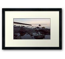 Dusk Beach Scene Framed Print