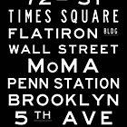 "New York ""Lexington"" Classic Style subway sign art by Subwaysign"