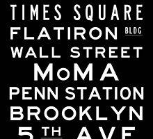 "New York ""Lexington"" Classic Style subway sign art by Subwaysign"