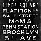 "New York ""Lexington"" V3 Vintage subway sign art by Subwaysign"