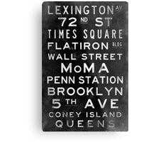 "New York ""Lexington"" V3 Vintage subway sign art Metal Print"