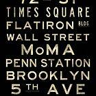 "New York ""Lexington"" V4 Distressed subway sign art by Subwaysign"