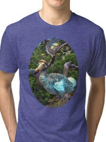 ☝ ☞ RARE EXTINCT- DODO BIRD (RAPHUS CUCULLATUS)  TEE SHIRT ☝ ☞ Tri-blend T-Shirt