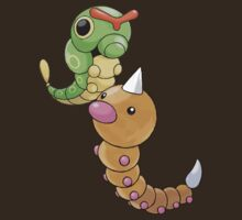 Weedle and Caterpie by Stephen Dwyer
