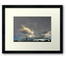 ©HCS The Cloudscape Rainy Season Tower Framed Print