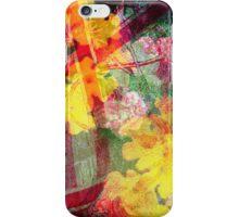 Floral ribbon print iPhone Case/Skin