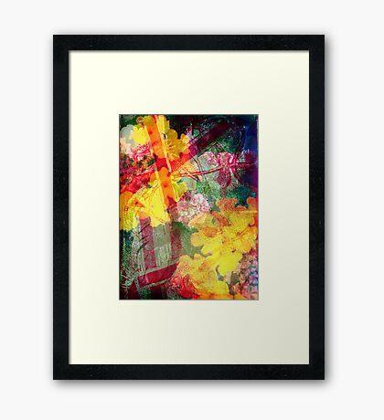 Floral ribbon print Framed Print