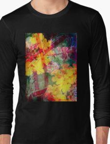 Floral ribbon print Long Sleeve T-Shirt