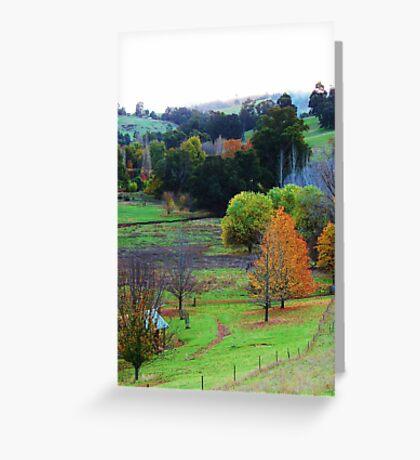 Pear Tree Lookout - Helen Hulme Greeting Card