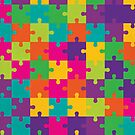Colorful Jigsaw Puzzle Pattern by thejoyker1986