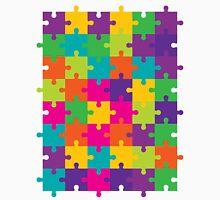 Colorful Jigsaw Puzzle Pattern Unisex T-Shirt