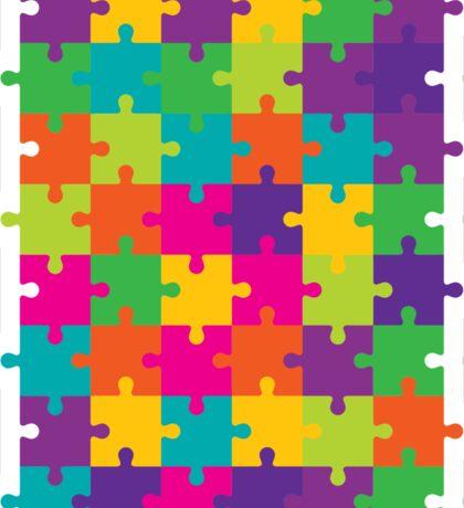 Colorful Jigsaw Puzzle Pattern Sticker
