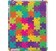 Colorful Jigsaw Puzzle Pattern iPad Case/Skin