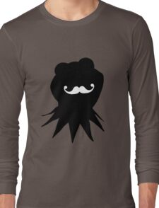Kermit the Moustached Frog Long Sleeve T-Shirt