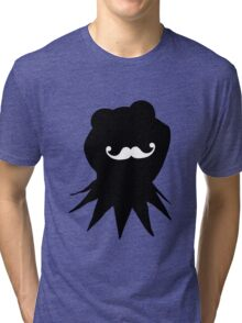 Kermit the Moustached Frog Tri-blend T-Shirt