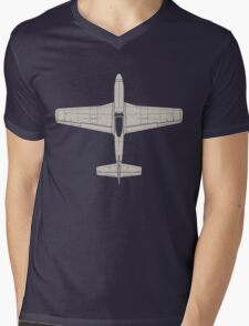North American P-51D Mustang Mens V-Neck T-Shirt