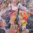 Painting Of Female Cellist - Music Art Gallery by Ballet Dance-Artist
