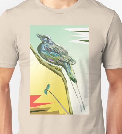 Long tailed blue bird 3 Unisex T-Shirt