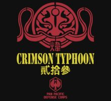 Crimson Typhoon Pacific Rim Jaeger Academy t shirt by cerenimo