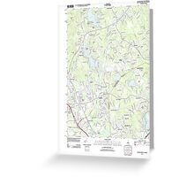 USGS TOPO Map New Hampshire NH Salem Depot 20120517 TM Greeting Card