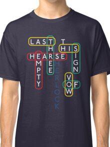 Sherlock Season 3 Word Puzzle T-shirt Classic T-Shirt