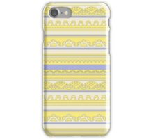 Pale colored lace pattern iPhone Case/Skin