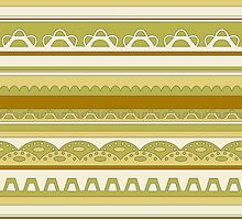 Lace pattern in sobre nature colors by CClaesonDesign