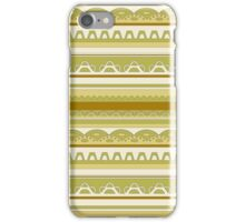 Lace pattern in sobre nature colors iPhone Case/Skin