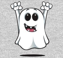 Cartoon Ghost - With Gapped Teeth Kids Clothes